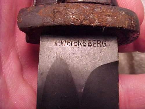 WW2 K98 Bayonet Weyersberg