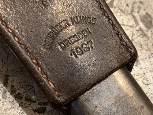 K98 Bayonet by E.u.F. Horster