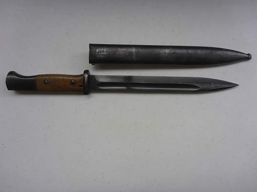 K98 bayonet and frog for review