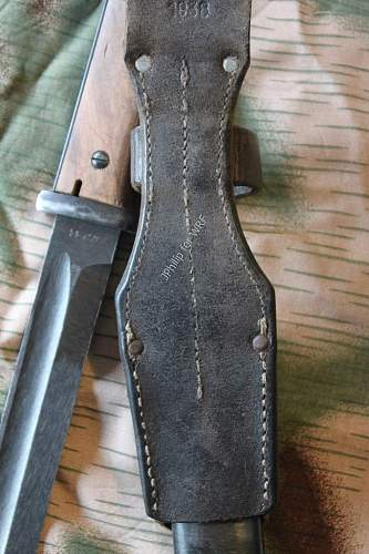 S 84/98 (third type) bayonet with Seitengewehrtasche : where have you been all my life...
