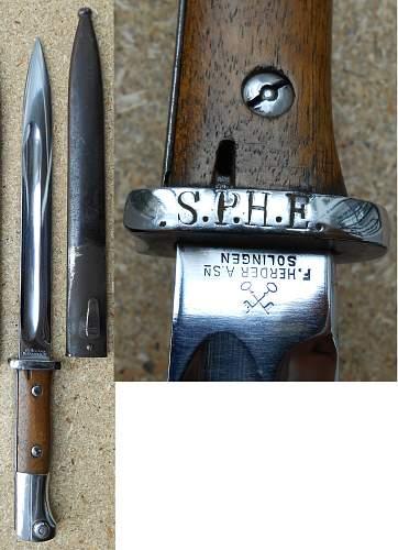 Marking on a Weimar bayonet