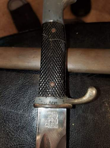 Etched K98 bayonet