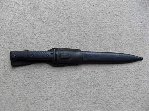 matching k98 bayonet and scabbard