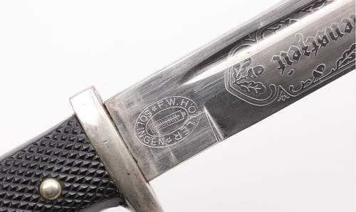 Etched dress bayonet from F.W.Holler