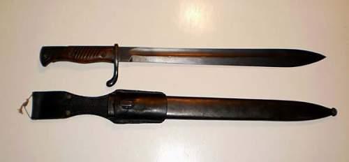My butcher bayonet.