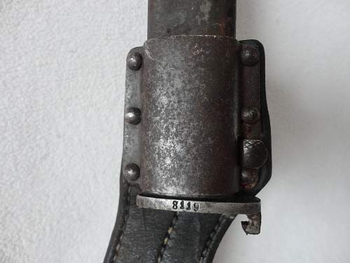 Unknown Bayonet and a Short Dress Bayonet