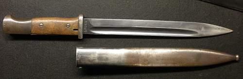 Undated K98 bayonet marked S/174G - 1935?
