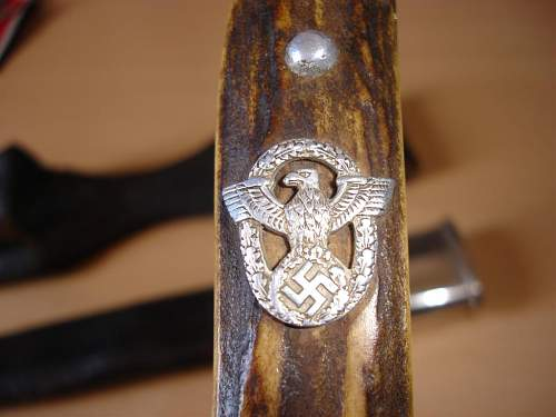 My WWII German Police Clamshells Bayonet