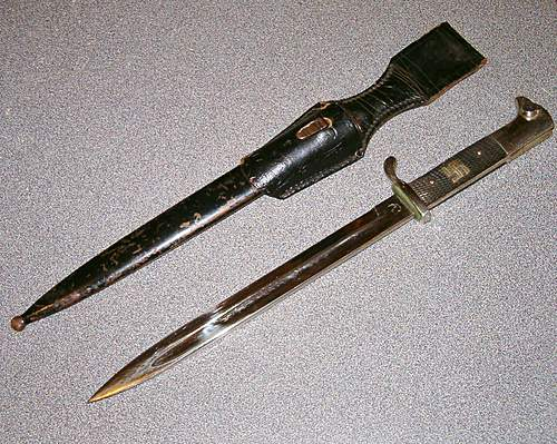 Need help with Nazi Chromed bayonet. Is it real?