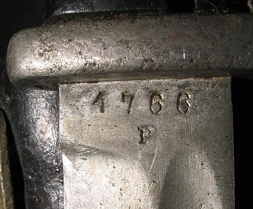 Strange finish on K98 bayonet?