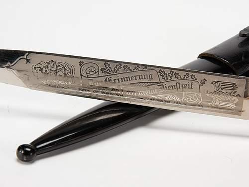 German bayonet Eickhorn blade engraved original?