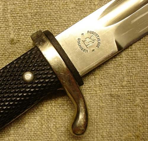 etched dress-bayonet Robert Klaas