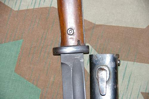 k98 bayo with SS Totenkopf engraving