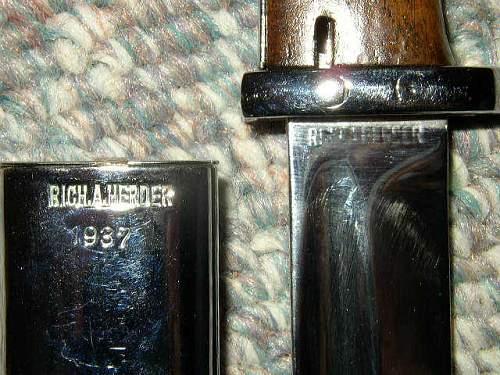 Mauser K98 Bayonet help...