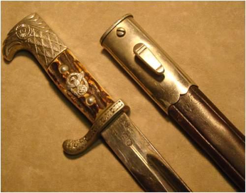 WKC White gripped bayonet
