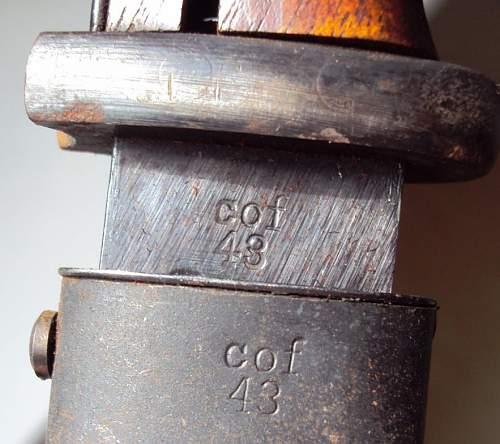 K98 bayonet and scabbard