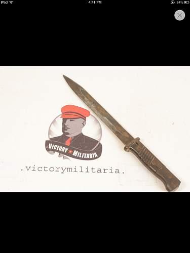 German combat bayonet