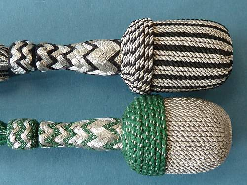 Knots and Portepee of the SS-VT / Waffen-SS
