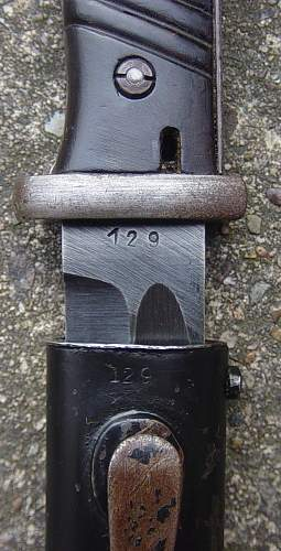 K98 bayonet with matching numbers