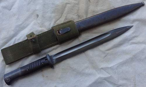 1939 F.W. Holler bayonet with tropical frog...