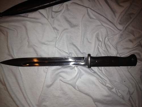 New guy here. I think its an SS Bayonet but you will know better!