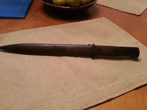 K98 bayonet with matching s/n part of 4 collection picked