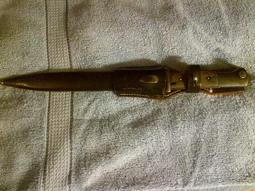 First K98 Bayonet (with frog)