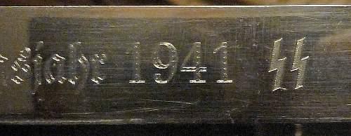Parade Bayonet with SS inscription - Genuine or Fake?