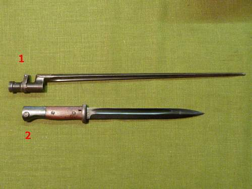 K98 bayonet  vs. The Firemans dress bayonet. differences
