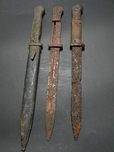 3 Kurland battlefield k98 bayonets