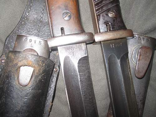 Three bayonets - two generic and one more interesting.
