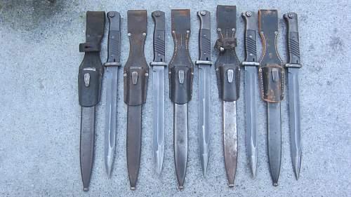 My K98 bayonet collection so far