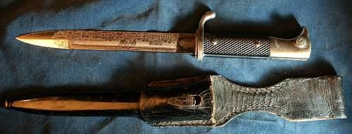 2 Short bayonets by Holler-1 engraved.