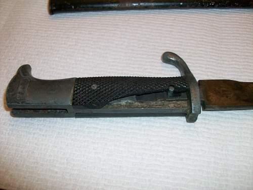 Dress bayonet, right?