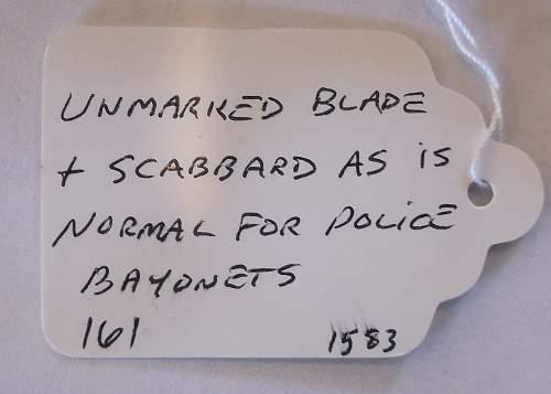 Police & refurbishment/reissue?
