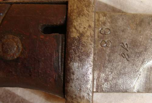 Bayonet Riveted  to an abnormal number?