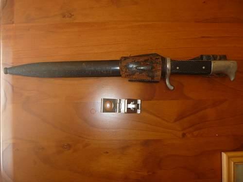 k98 parade bayonet. bring back