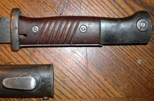 Late 44 crs ( Paul Weyersburg) k98 bayonet