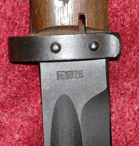German converted Vz 24 czech bayonet