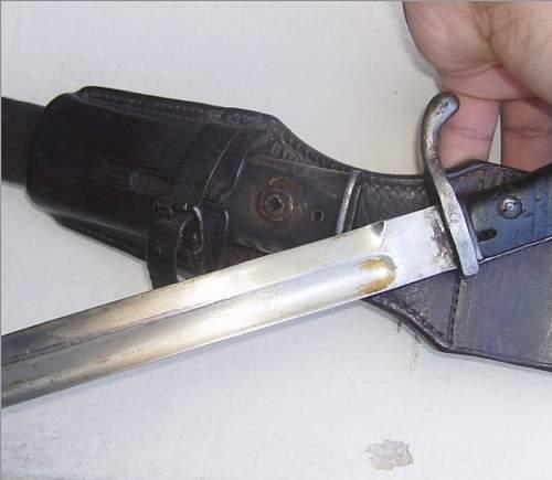 "Shortened 1918 Mauser Oberndorf ""Butcher Blade"" Bayonet???"