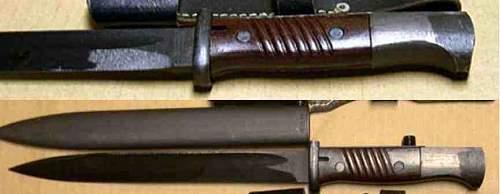 44 ASW Bayonet w/ Riveted Grips, Rare?