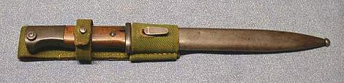 K98 combat bayonet with tropical frog