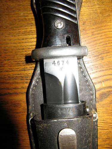 1940 Herder Bayonet