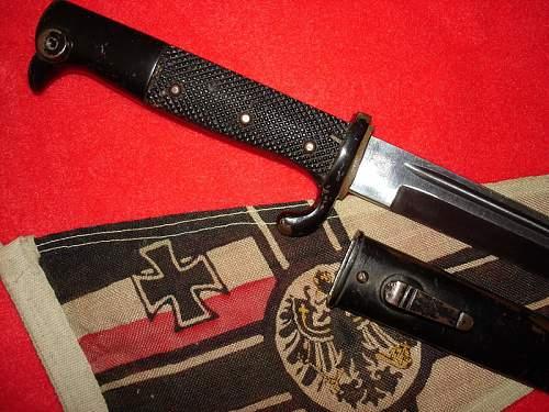 Black finished WKC bayonet