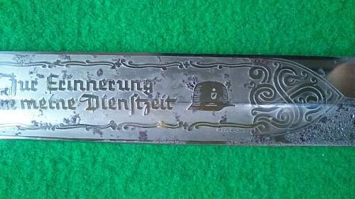Engraved bayonet: Dienstzeit Luftwaffe