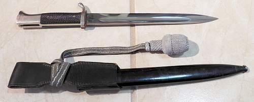 Clarification of K98 dress bayonet with Portepee
