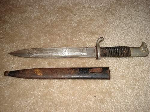 Engraved Dress bayonet