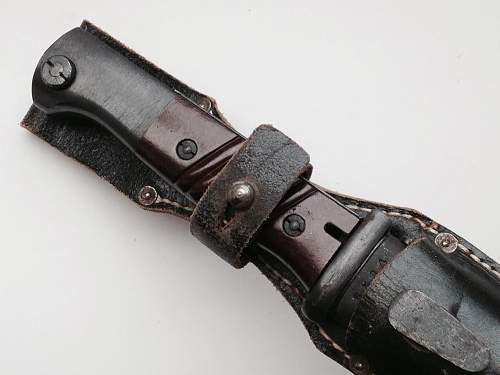 Double Dated matching E. u. F.  Horster 44ASW K98 bayonet & Scabbard