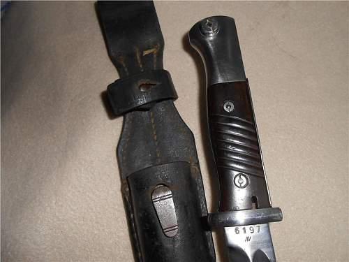 German dagger/bajonett model 98k