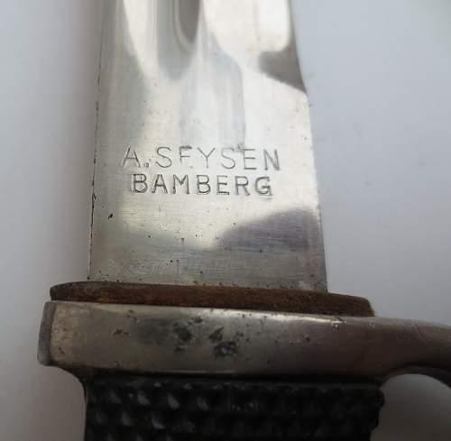 Bayonet  ks98 marked E.Pack&Sohne Solingen and A.Seysen Bamberg